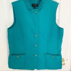 *NWT* Talbots | Quilted Turquoise Puffer Vest